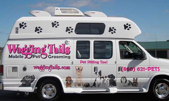 mobile grooming cheshire, newington ct dog groomer, spamobile grooming aside image